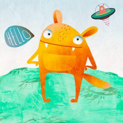 Skip Teller - Alien Friend #4