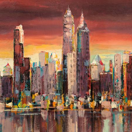 Luigi Florio - Sera su New York (detail)