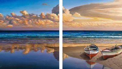Adriano Galasso – Barche sulla battigia – 2