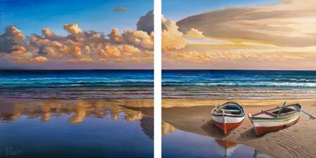 Adriano Galasso – Barche sulla battigia - 2