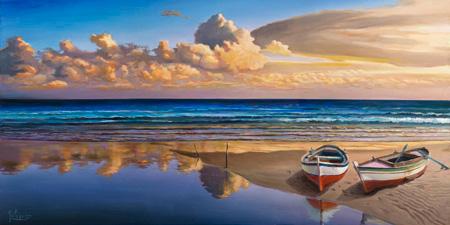 Adriano Galasso - Barche sulla battigia