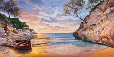 Adriano Galasso - Caletta al tramonto