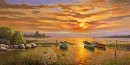 Adriano Galasso - Laguna al tramonto