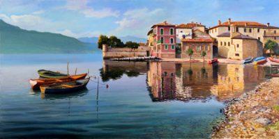 Adriano Galasso – Paese sul lago