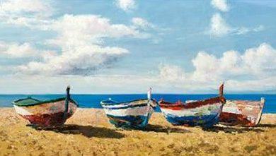 Benson Pierre - Boats on the Beach