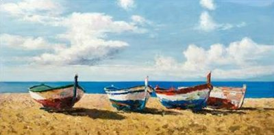 Benson Pierre – Boats on the Beach