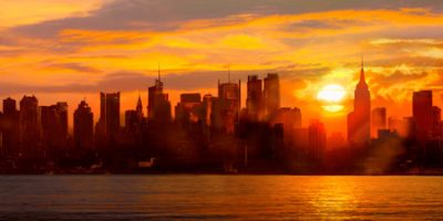 Shaun Green – Sunset over Manhattan