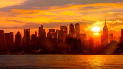 Shaun Green – Sunset over Manhattan