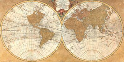 Joannoo – Gilded World Hemispheres I