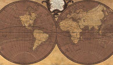 Joannoo - Gilded World Hemispheres II