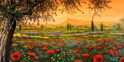 Tebo Marzari – Pianura in fiore (detail)