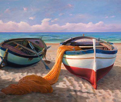 Adriano Galasso – Barche sulla spiaggia