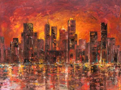 Luigi Florio – Sunset in New York