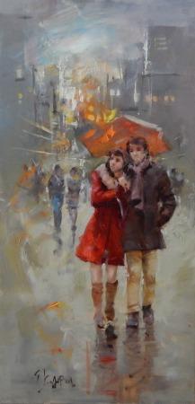Καλύβας Γεώργιος – Ζευγάρι με ομπρέλα