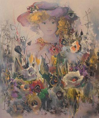 Μουρατίδου Φωτεινή – Κοπέλα και λουλούδια