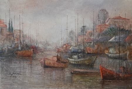 Μαρνέζου Σταματίνα - Βάρκες στο λιμάνι