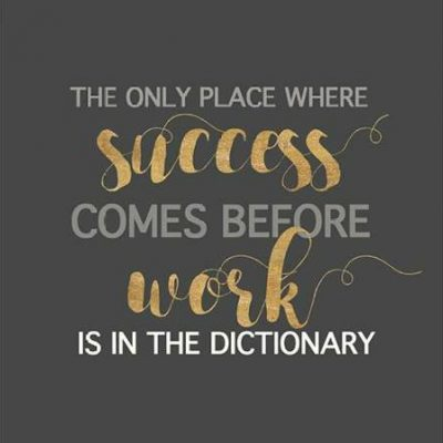 Dos Santos Bella – Success Comes Before Work
