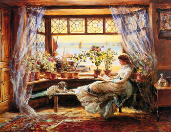 Charles James Lewis - Reading by the Window Hastings