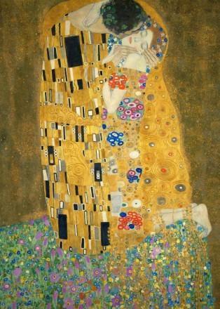 Gustav Klimt – Der Kuss (detail)