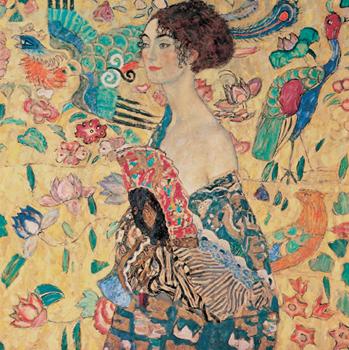 Gustav Klimt – Donna con ventaglio