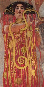 Gustav Klimt – Hygieia (detail from Medicine)