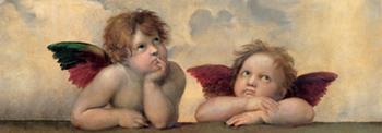 Raffaello Sanzio – Angeli Madonna Sistina (detail)