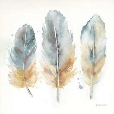 Coulter Cynthia – Watercolor Feathers Neutral I