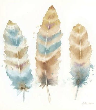 Coulter Cynthia - Watercolor Feathers Neutral II