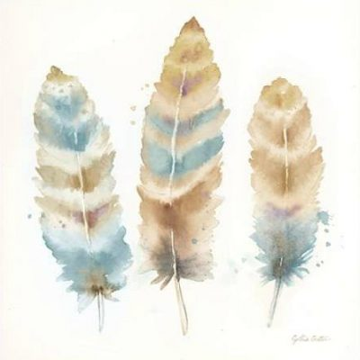 Coulter Cynthia – Watercolor Feathers Neutral II