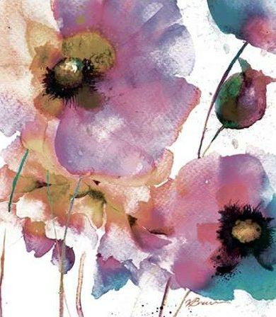 Brown Victoria - Pink Flowers 1