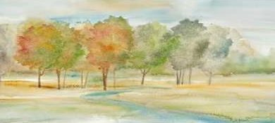 Coulter Cynthia - Watercolor Landscape Panel