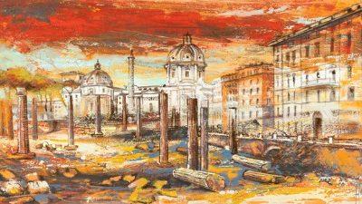 Luigi Florio – Tramonto su Roma