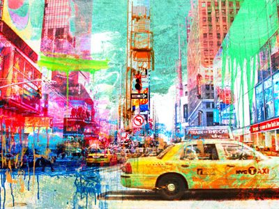 Eric Chestier – Taxis in Times Square 2.0