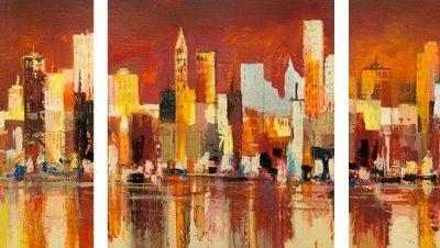 Luigi Florio – Manhattan al tramonto – 3