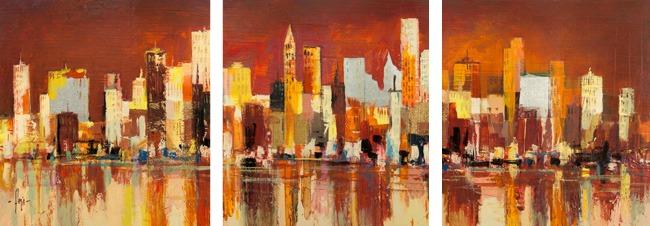 Luigi Florio – Manhattan al tramonto - 3