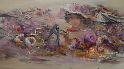 Μουρατίδου Φωτεινή – Κοπέλα με λουλούδια