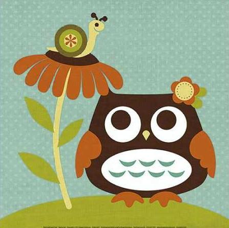 Lee Nancy - Owl Looking at Snail