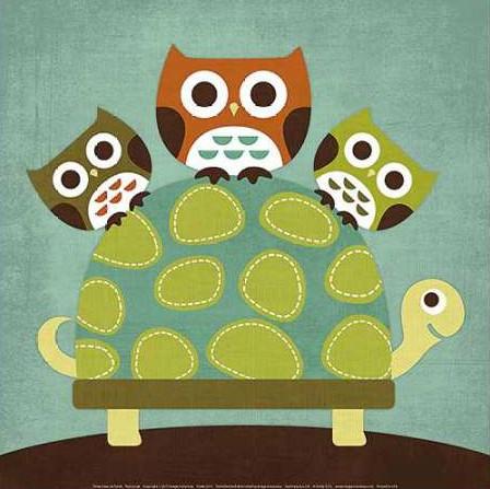 Lee Nancy - Three Owls on Turtle