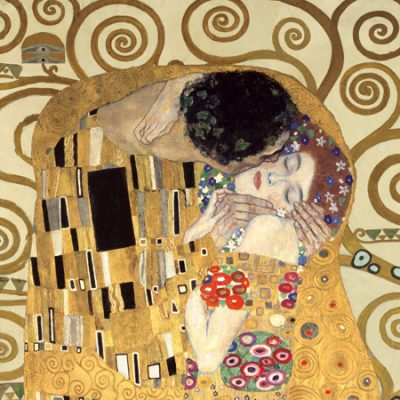 Gustav Klimt – The Kiss (detail)
