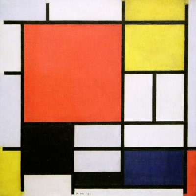 Piet Mondrian – Composition with Lines and Colors