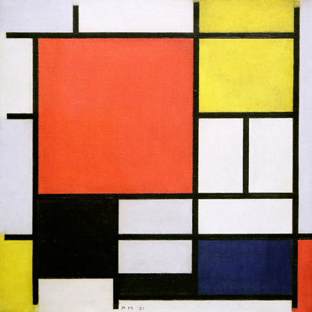 Piet Mondrian - Composition with Lines and Colors