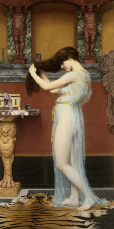 John William Godward – The Toilet