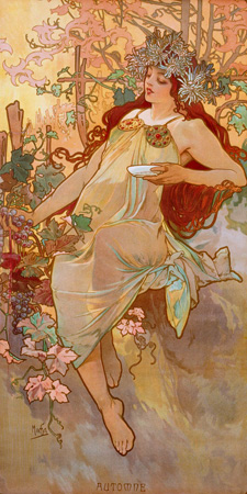 Alphonse Mucha – Automne