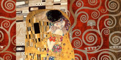 Gustav Klimt – Klimt Patterns The Kiss (Pewter)