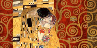 Gustav Klimt – Klimt Patterns The Kiss (Gold)