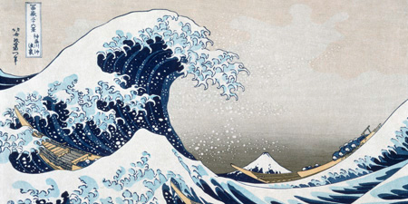 Katsushika Hokusai - The Wave off Kanagawa (detail)