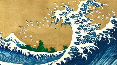 Katsushika Hokusai – The Big Wave (detail from 100 Views of Mt. Fuji)