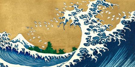 Katsushika Hokusai - The Big Wave (detail from 100 Views of Mt. Fuji)