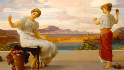 Frederic Leighton – Winding the Skein