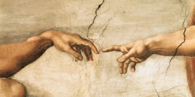 Michelangelo Buonarroti – La creazione di Adamo (detail)